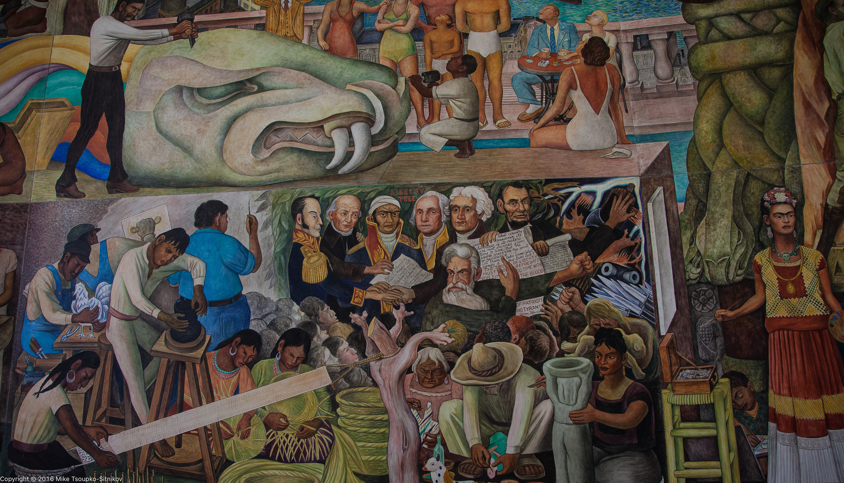 Diego rivera in san francisco demerjee travels more for Diego rivera s mural