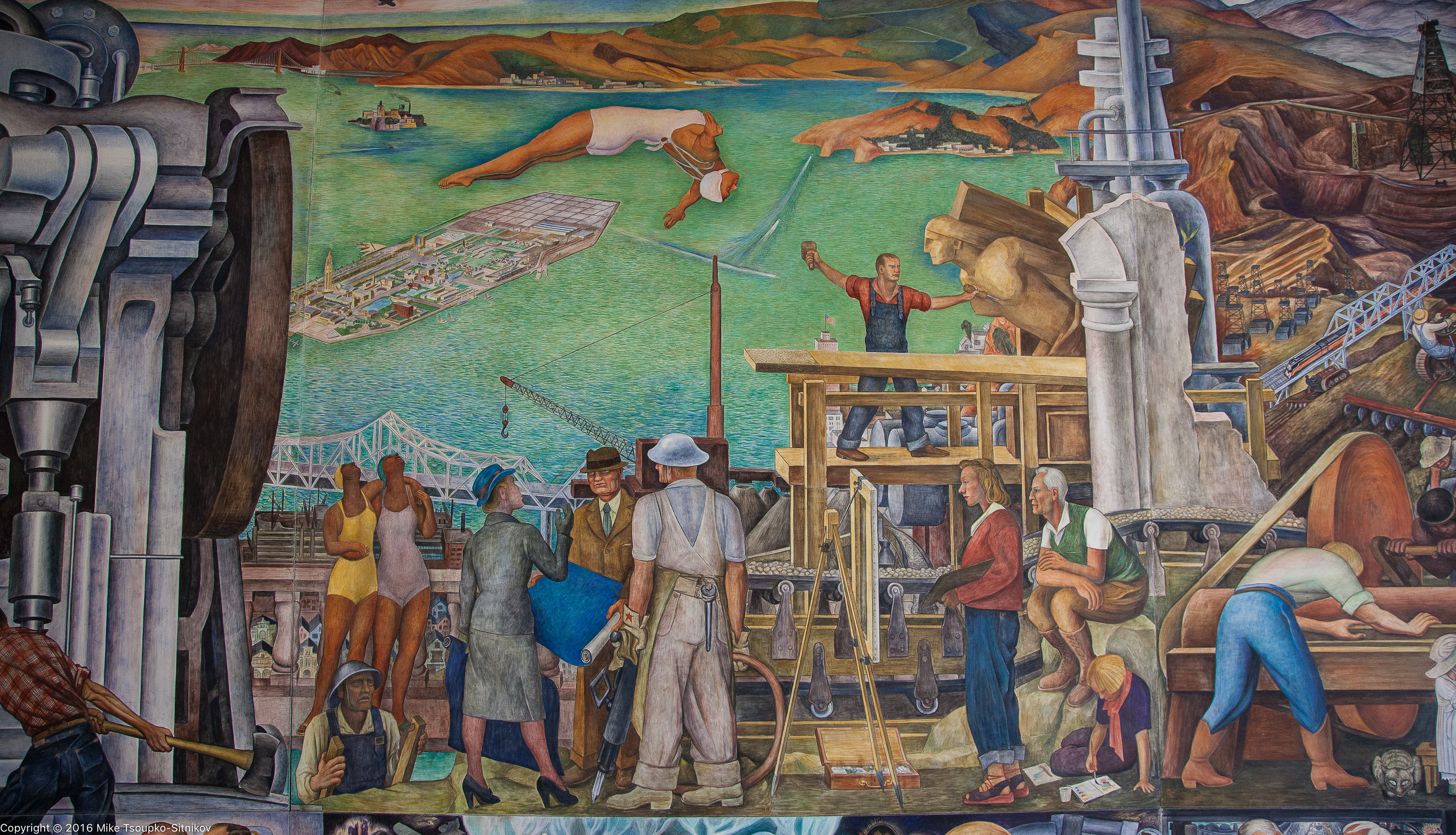 Diego rivera in san francisco demerjee travels more for Diego rivera mural in san francisco
