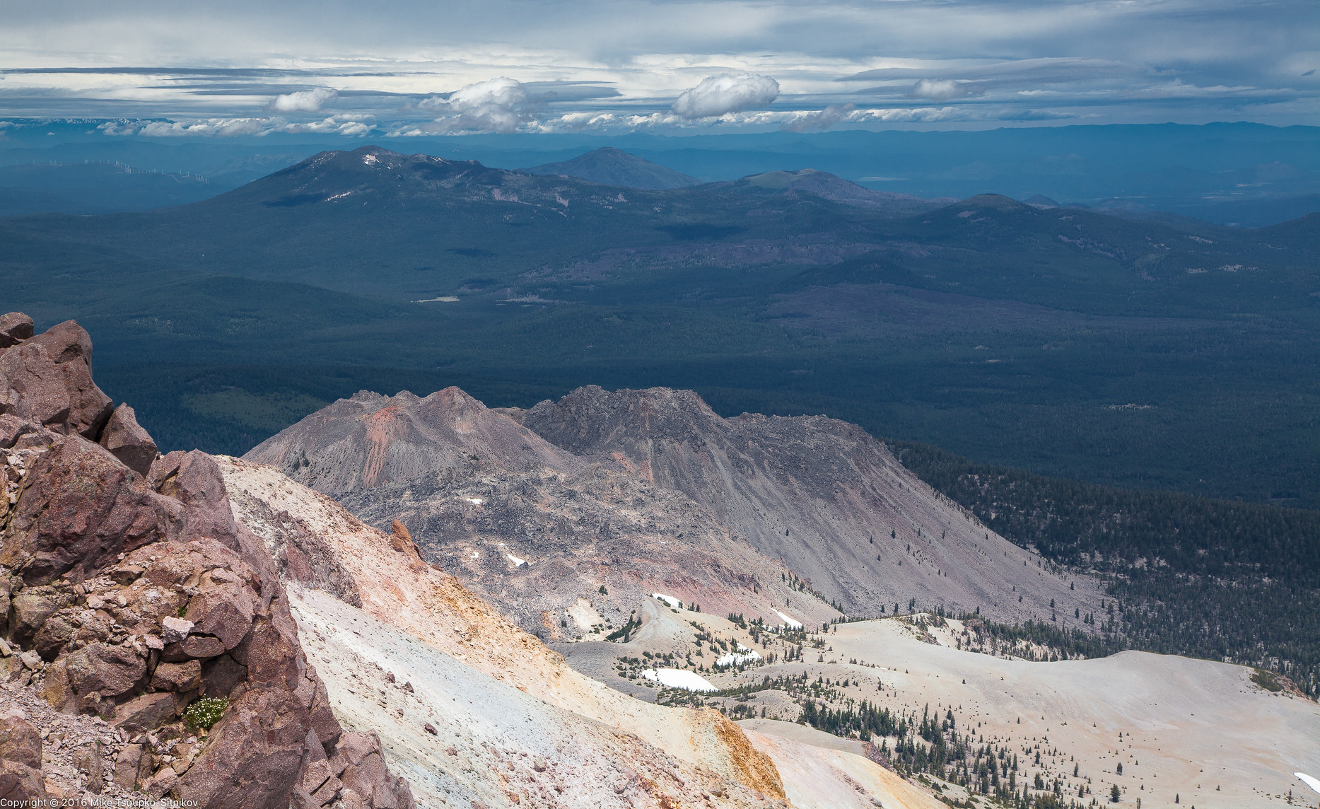 Lassen Peak. Looking eastwards from the summit.