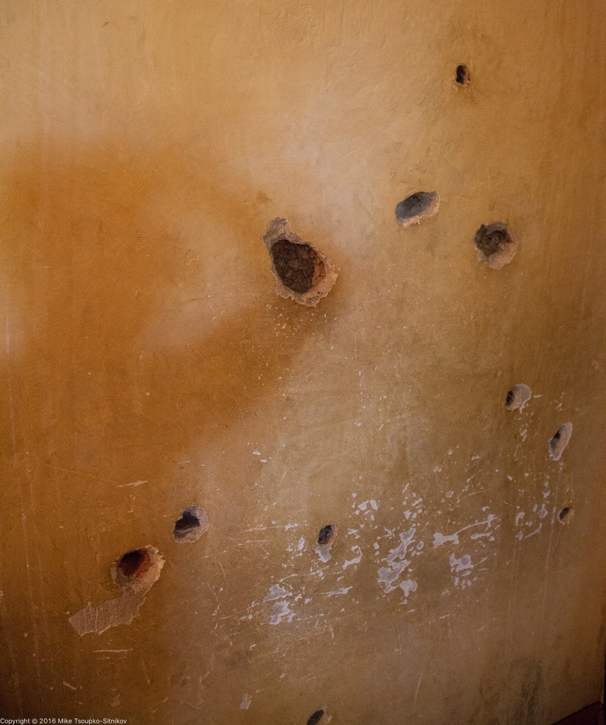 Trotsky house: bullet holes in the bedroom