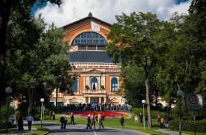 At Bayreuth Festspielhaus Theater