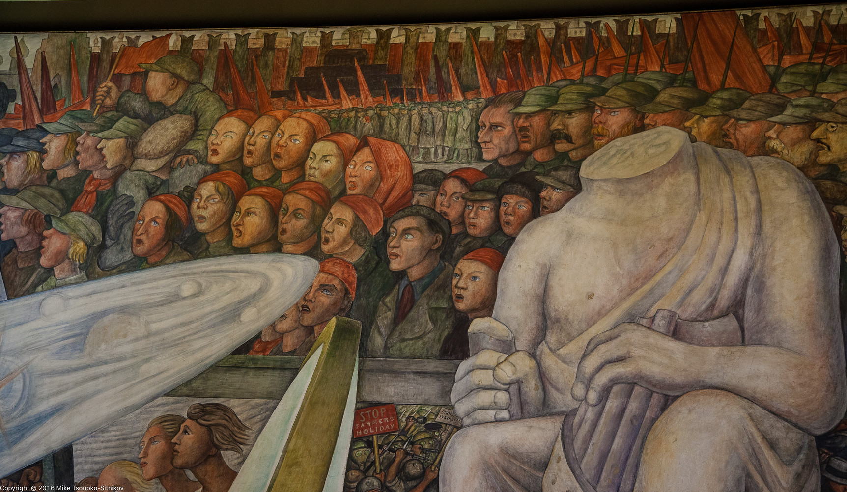 Stalinist mural diego rivera rockefeller center 28 for Diego rivera mural at rockefeller center