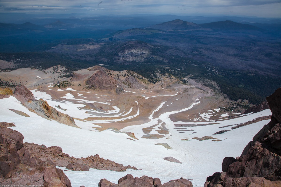 Lassen Peak. Looking to the south-east from the summit.