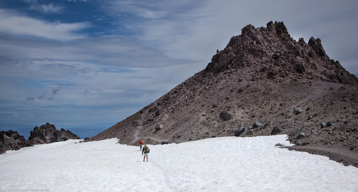 Lassen Peak: about to climb the summit rock