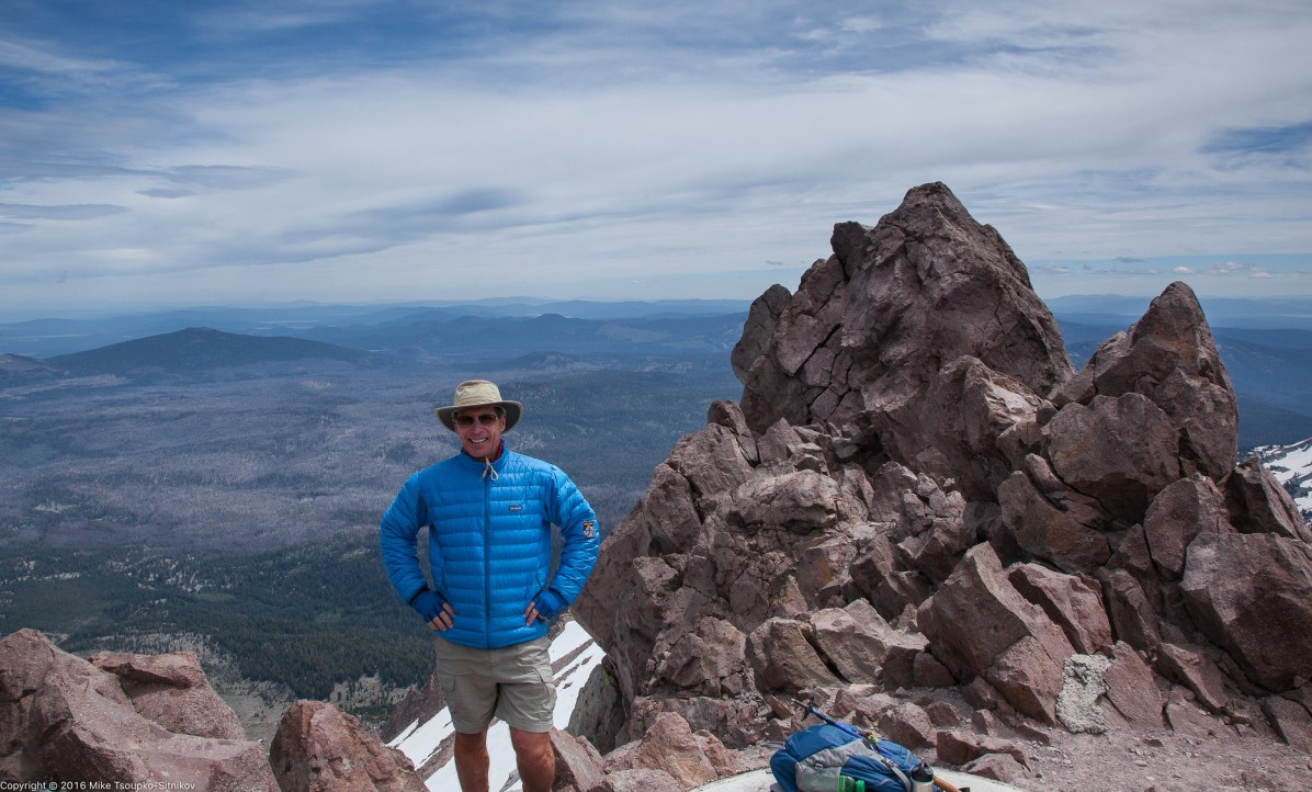 Lassen peak: at the summit