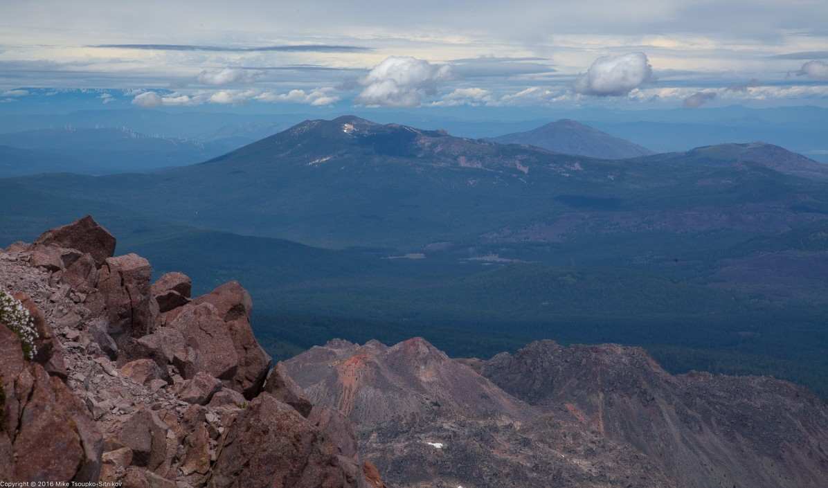 Lassen Peak. Looking to the north from the summit.