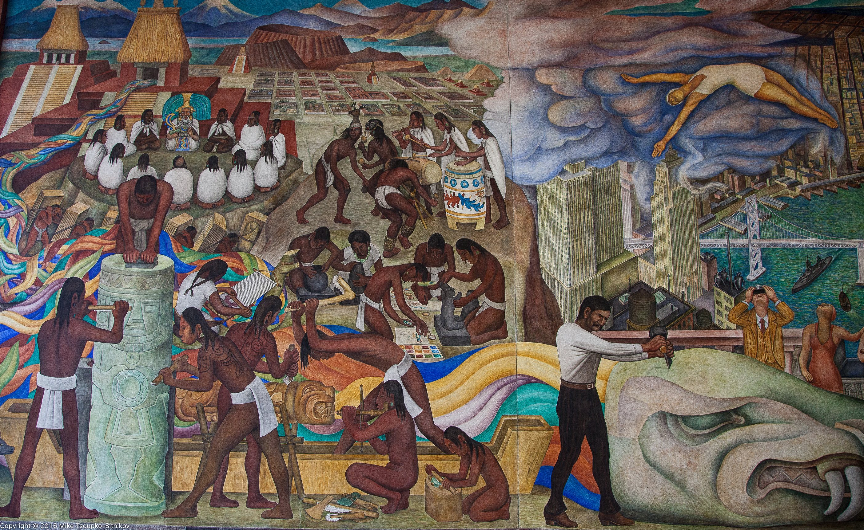 Diego rivera in san francisco demerjee travels more for Diego rivera pan american unity mural