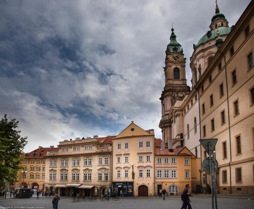 Prague. The Lesser Town. Malostranské Náměstí Square.