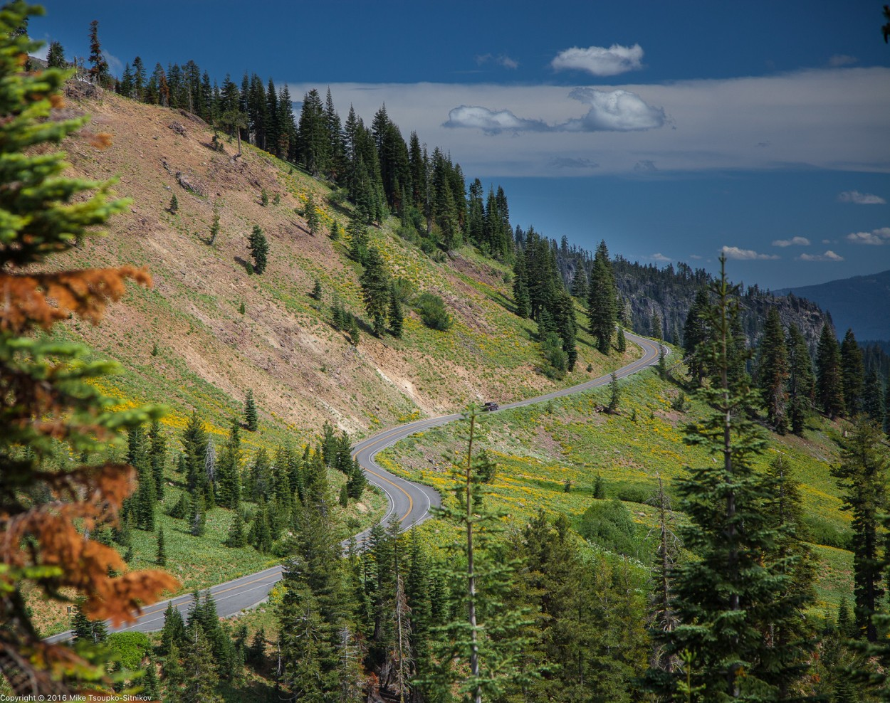 Lassen Peak Highway - a view from Ridge Lake Trail
