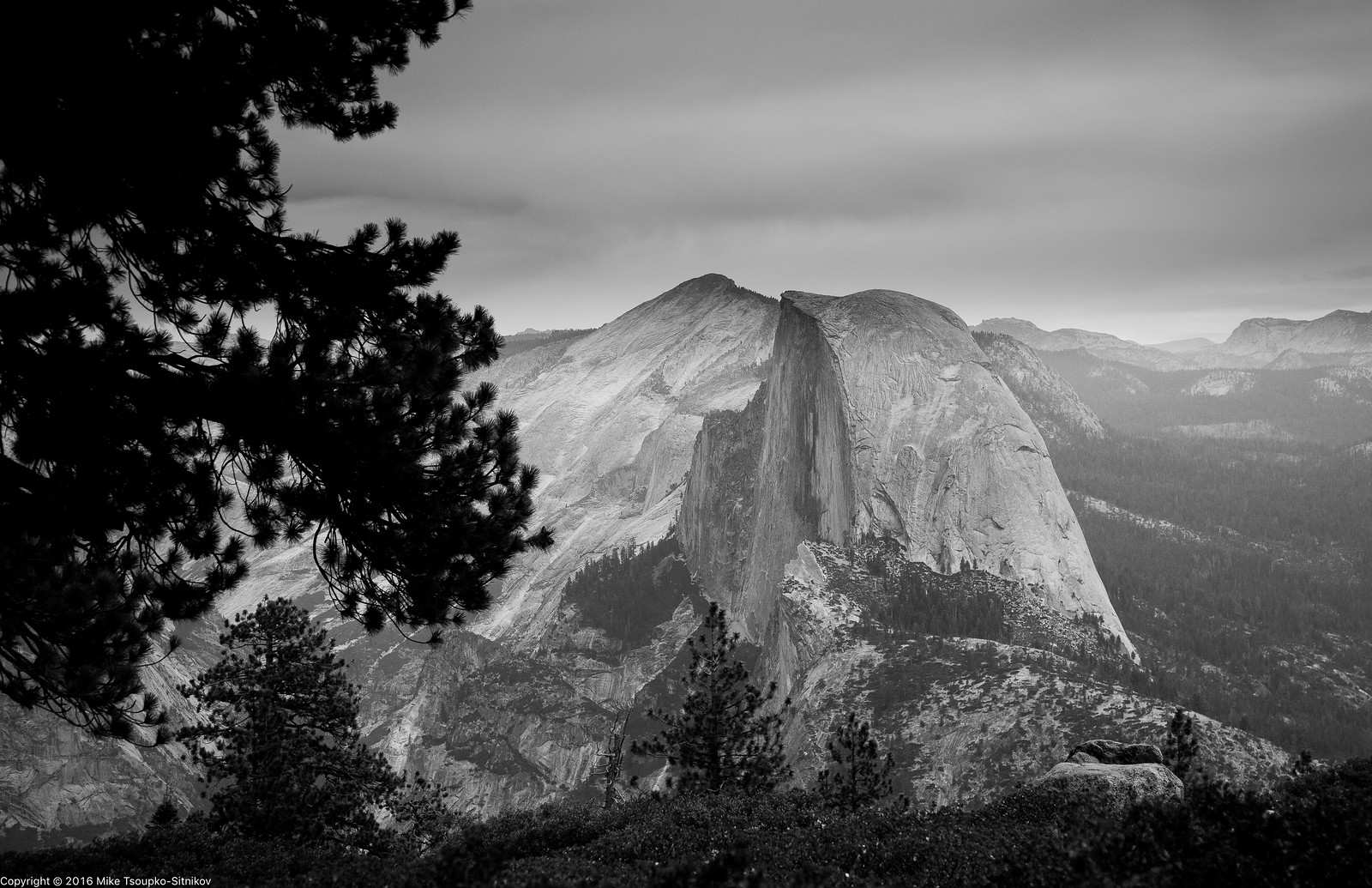 A View from Sentinel Dome in Yosemite