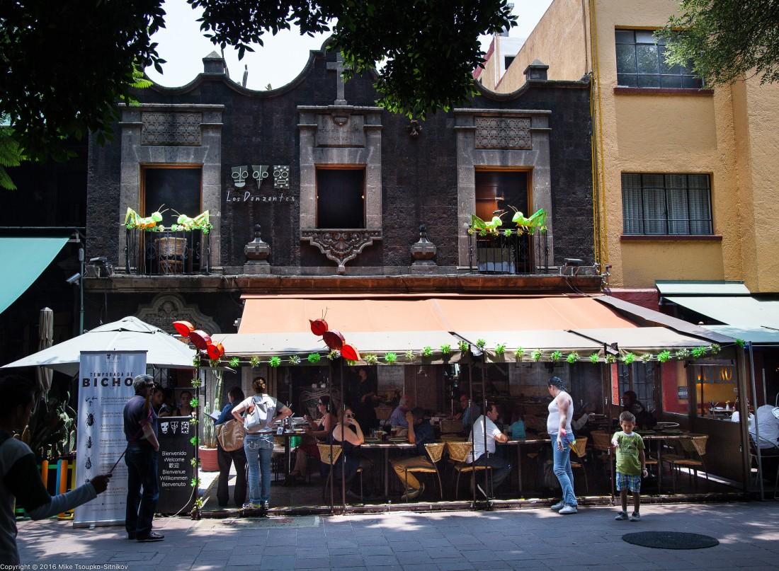 A restaurant near Parroquia San Juan Bautista in Coyoacán