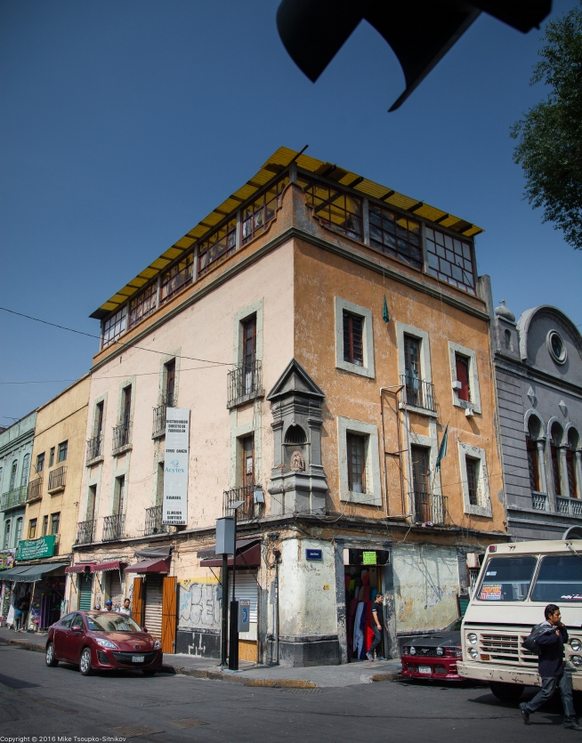 Corner of Loreto Square and Calle Justo Sierra