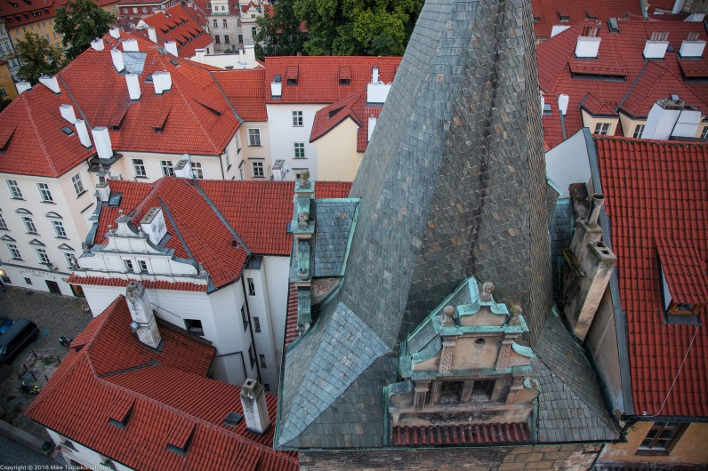 Prague. A view from the West tower of Charles Bridge