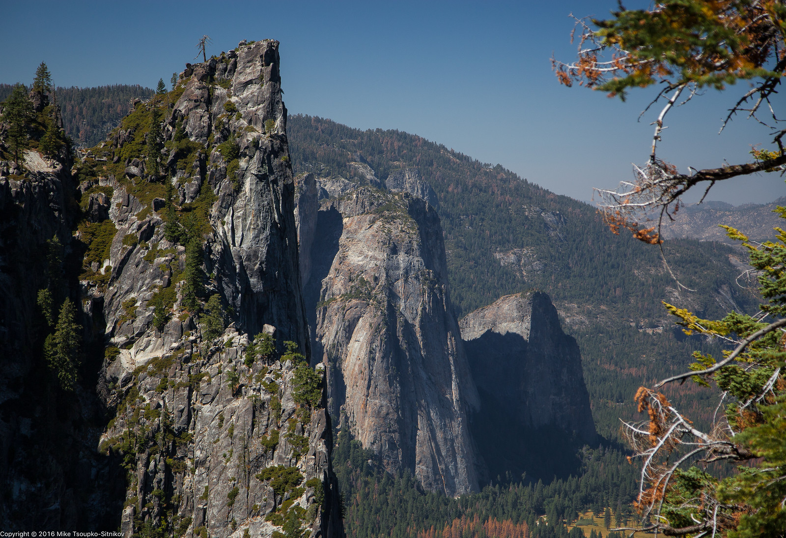 A View from Four Mile Trail in Yosemite