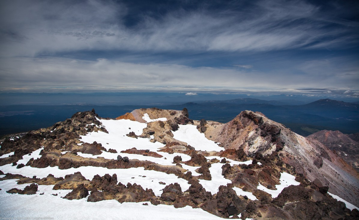 Lassen Peak. Looking to the north-east from the summit.