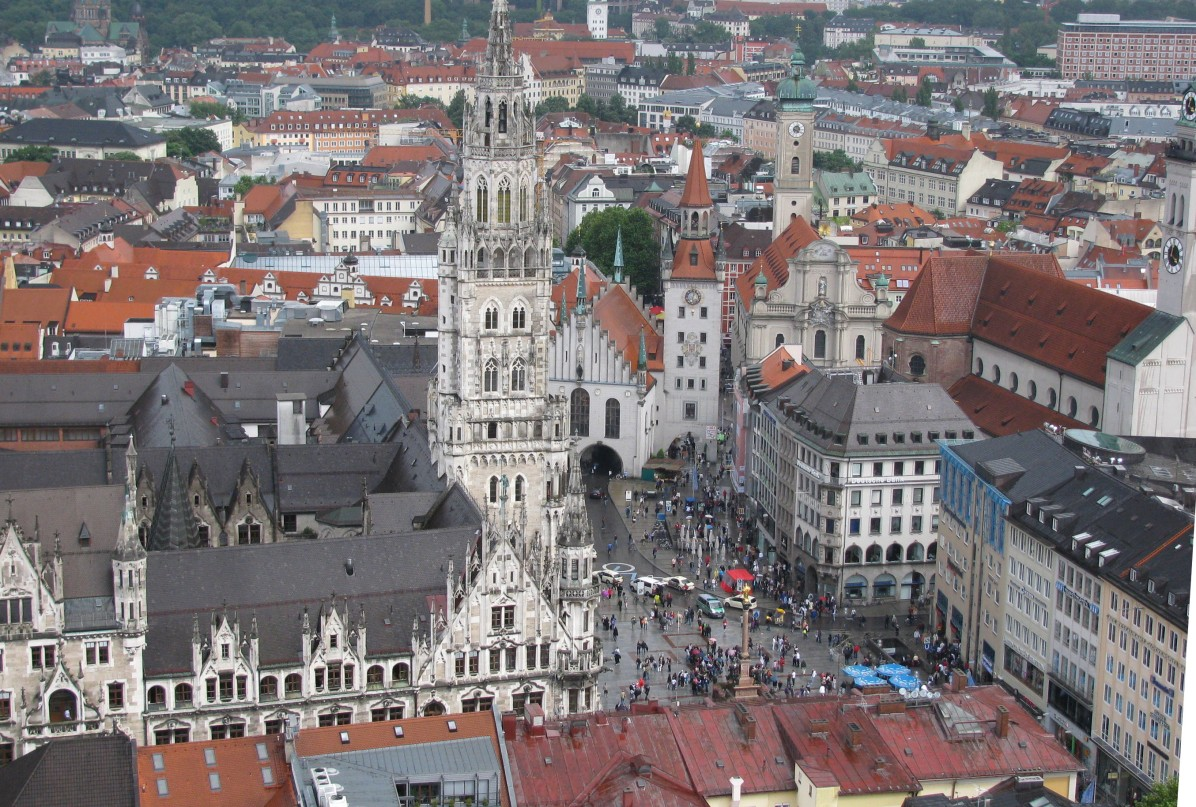 Marienplatz - a view from Frauenkirche belltower