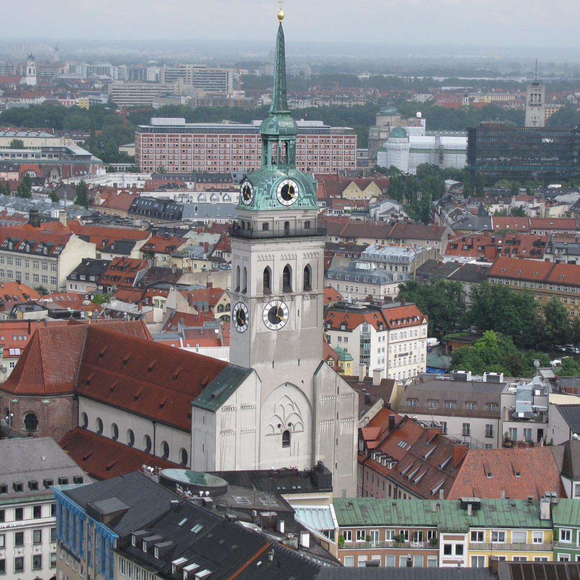 Peterskirche - a view from Frauenkirche belltower