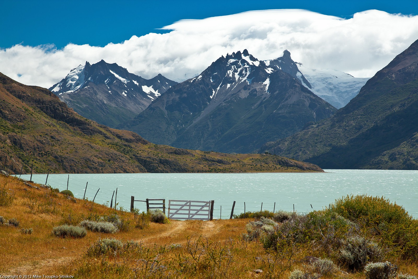 Lake Viedma and the peaks of South Patagonia Ice Field