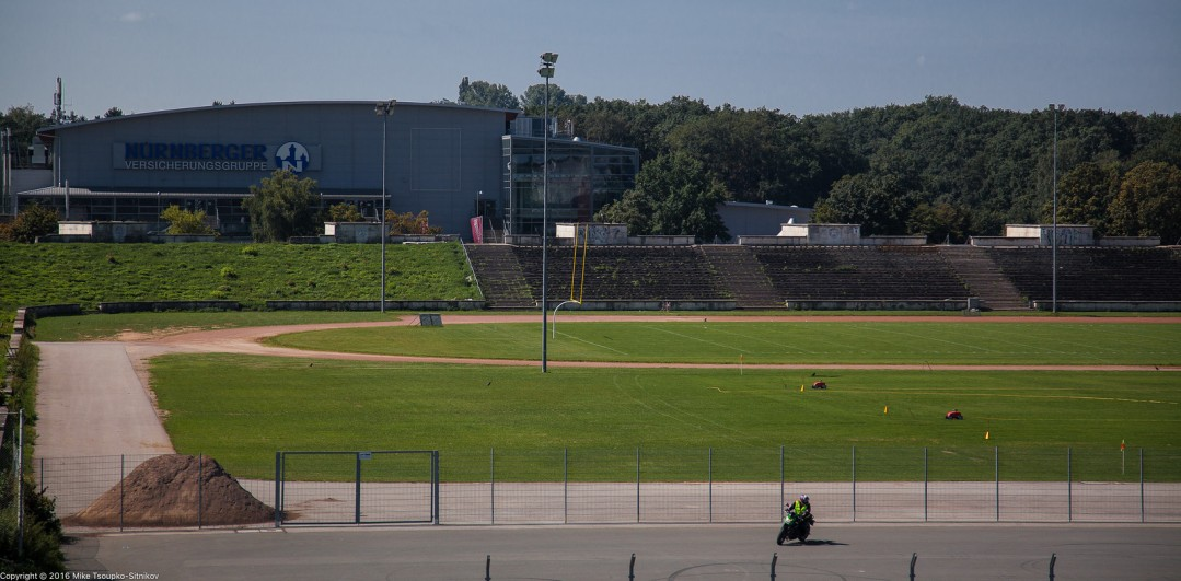 Nuremberg. Zeppelinfeld. A field for American football.