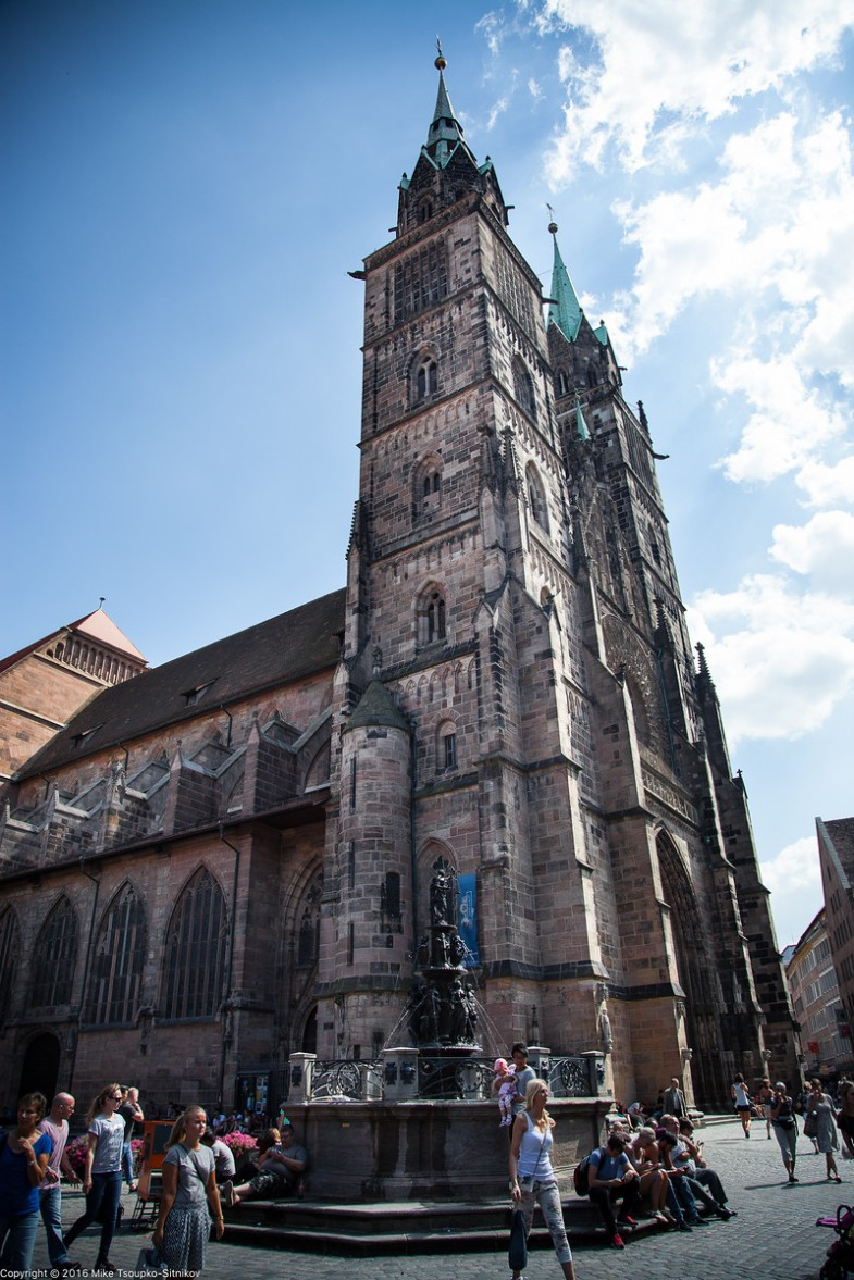 Nuremberg. The church of St. Lorenz