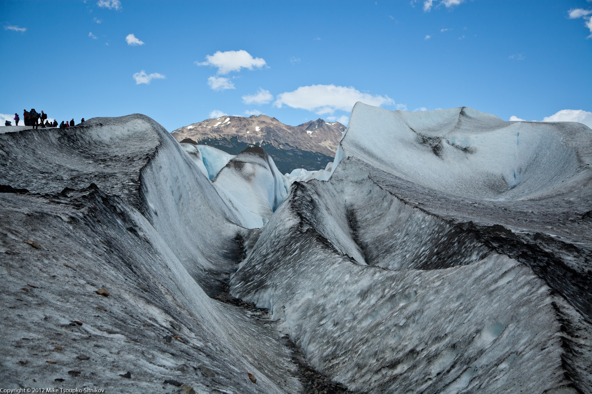 Viedma Glacier: it's not all pristine white