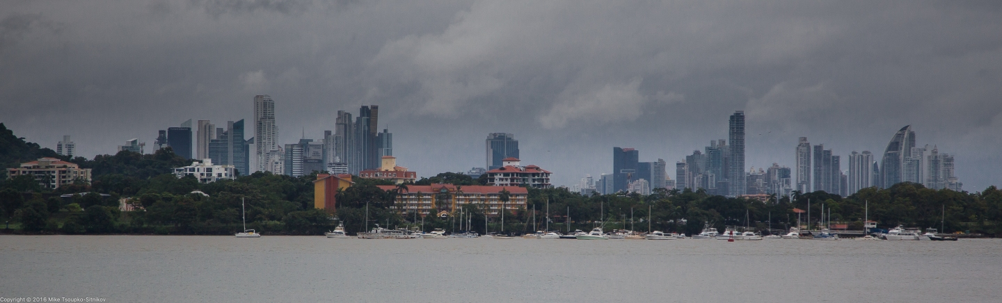 Panama City - a view from Playa Farfan