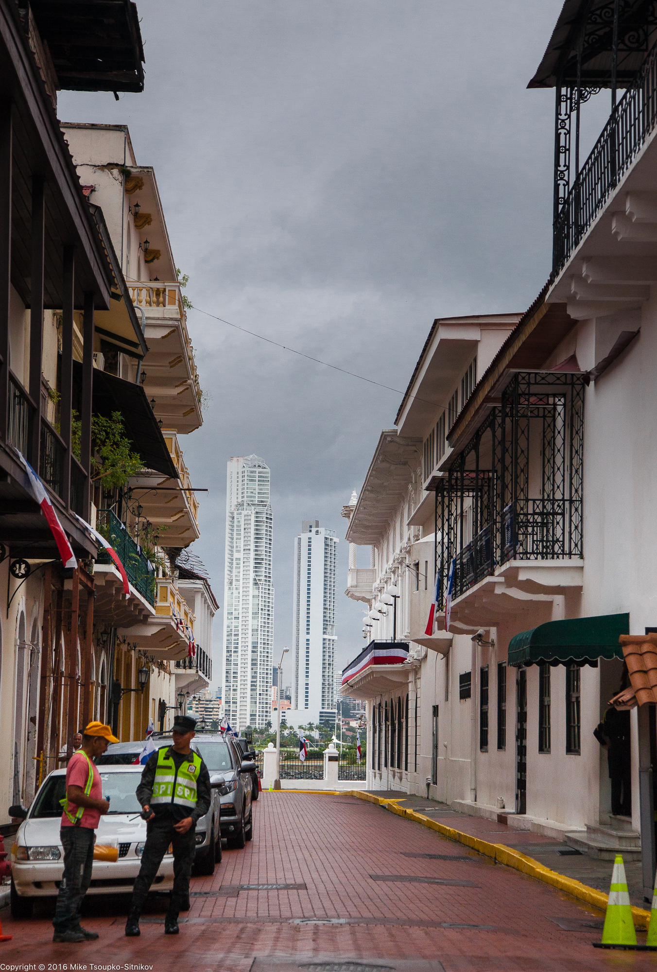 Panama City: a view from the Old Town into the New Town