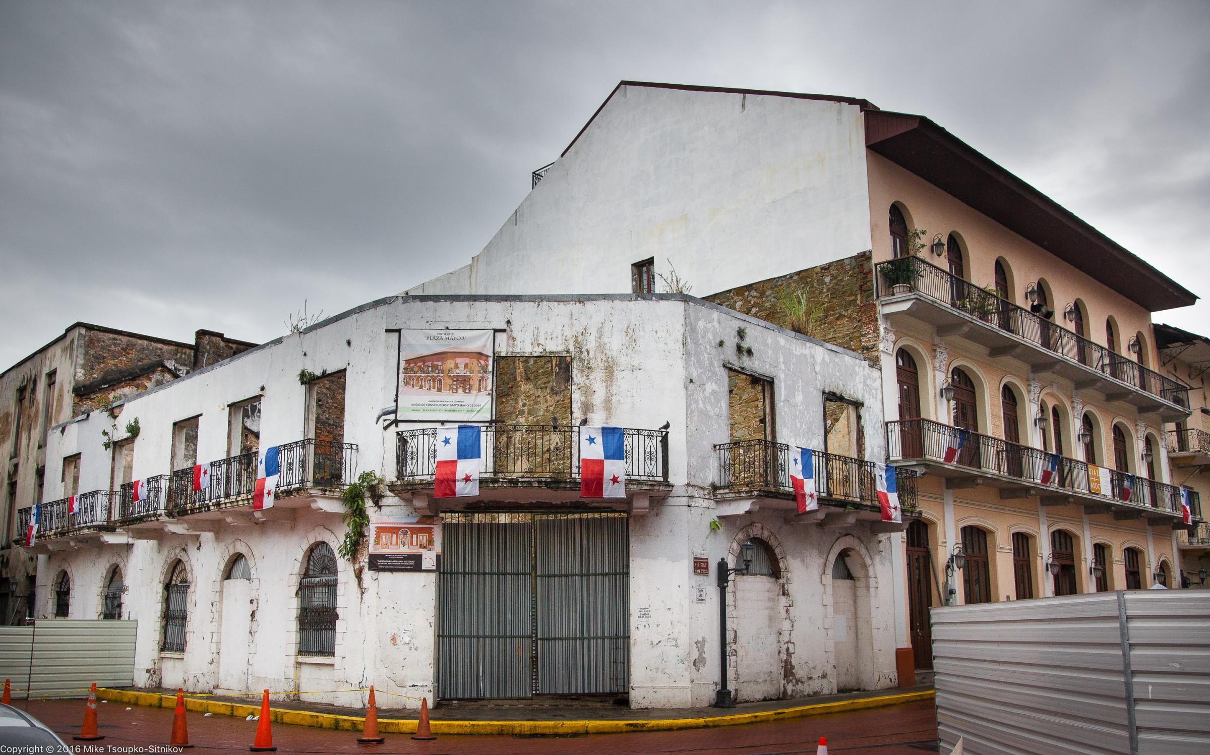 Panama City. A part of the Old Town under restoration