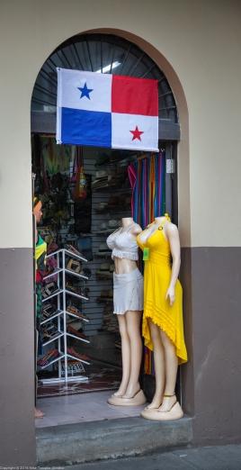 Panama City. A beachwear shop.
