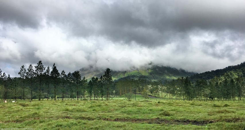 Cerro Chato volcano in a storm