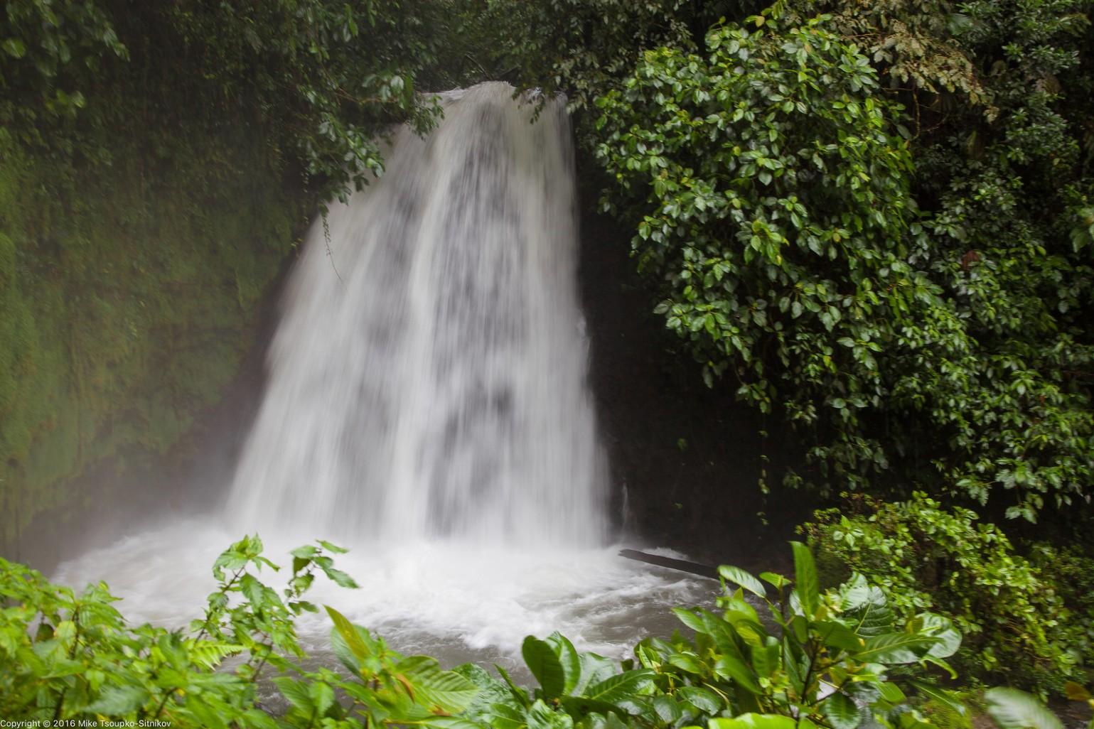 A waterfall near the Lodge