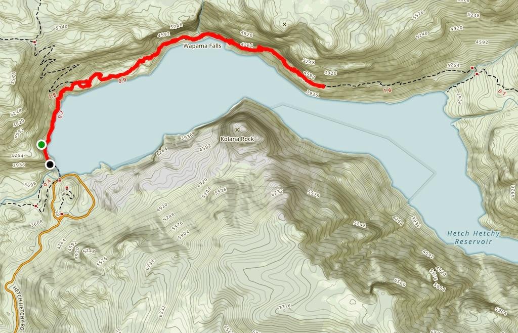 Wapama Falls Trail