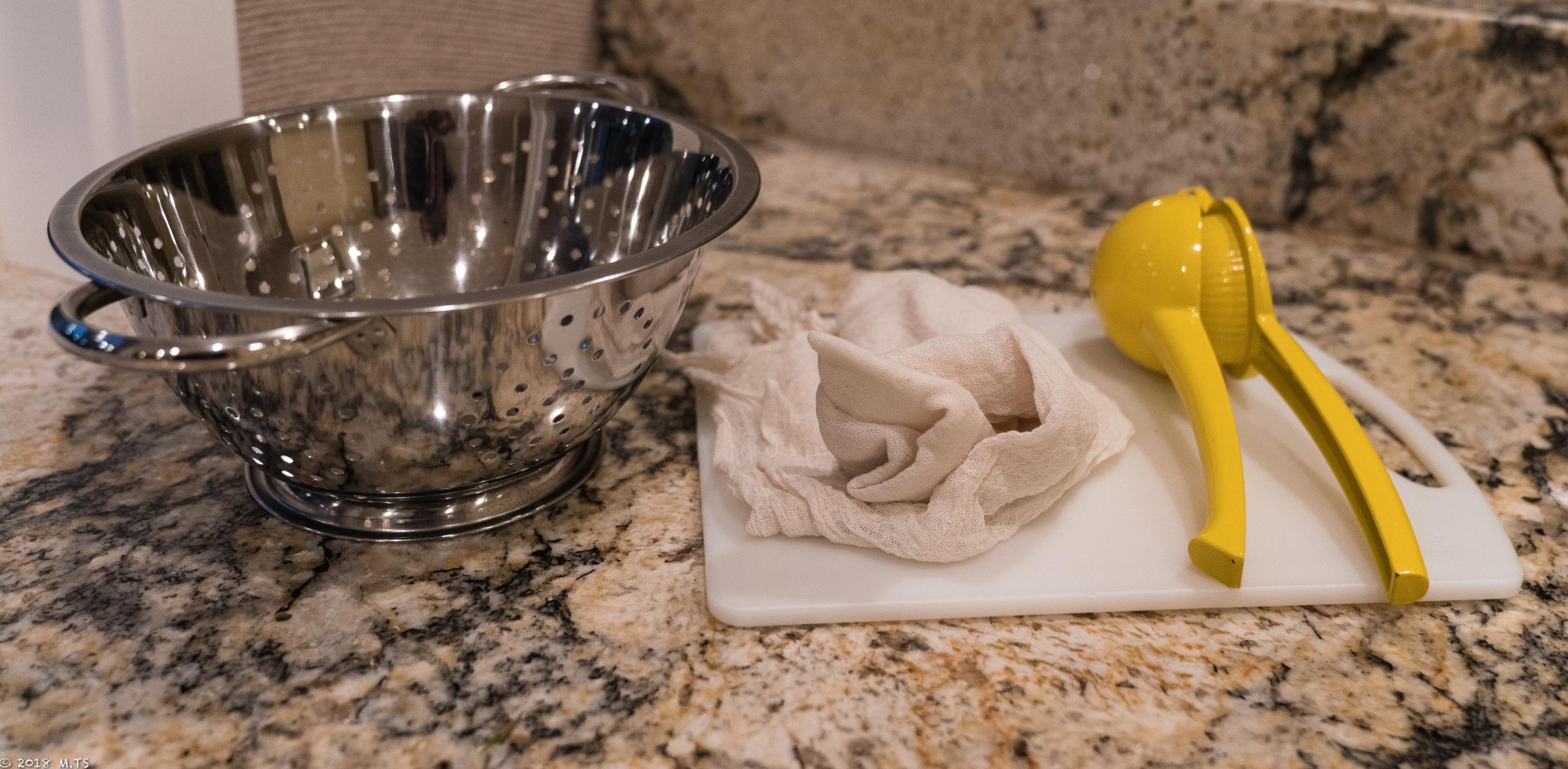 Making Paneer from Milk and Lemon Juice